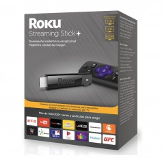 Roku Streaming Stick+ Ultra Hd 4k Hdr Modelo 3810 Control Remoto Netflix Youtube Disney