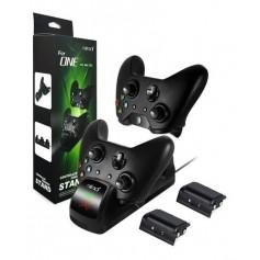 Kit Cargador Y 2 Baterias 1400Mah Para Joystick De Xbox One Snd-362