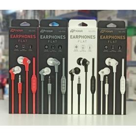 Auricular In Ear Noga Earphones Flat Con Microfono Manos Libres Sonido Dinamico Plug 3.5mm