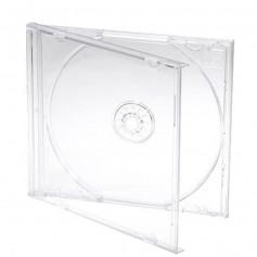 CAJA CD ACRILICA SIMPLE IMPORTADA TRAY TRANSPARENTE