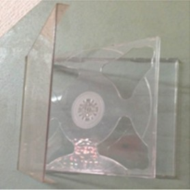 CAJA CD ACRILICA DOBLE IMPORTADA TRAY TRANSPARENTE