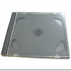 CAJA CD ACRILICA SIMPLE IMPORTADA TRAY NEGRO