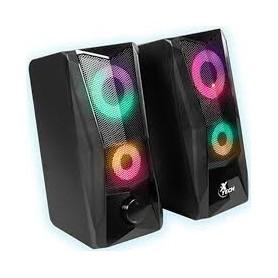 Parlante Xtech Gamer Rgb 2.0 Usb 3.5mm 3W x2 Pc Tv Xts-130