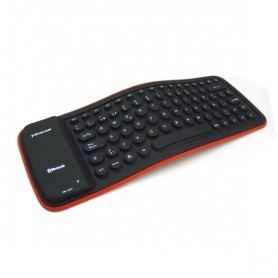 Teclado Panacom Flexible Keyboard Goma Con Cable Bl-1410 Teclas Redondas