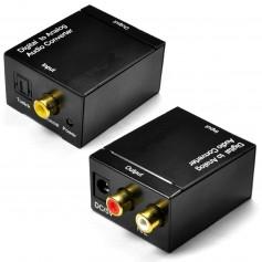 Conversor Audio Digital Rca a Optico - Sin Cable Optico Sin Cargador