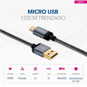 CABLE MICRO USB VERBATIM DORADO 120CM