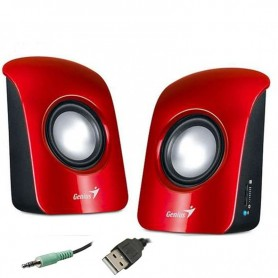 PARLANTE GENIUS SP-U115 COLORFUL USB ROJO
