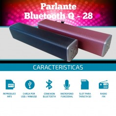 PARLANTE BLUETOOTH Q28 MP3 USB BATERIA TARJETA SD BT RADIO