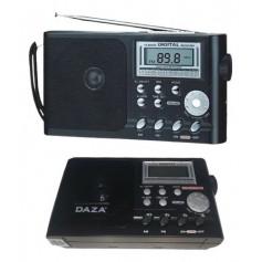 Radio Daza Portatil Fm Am Digital Multibanda 220v o Pila Dzkk9913bk