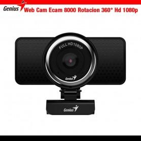 Web Cam Genius Qcam 8000 1080p / Rotacion 360° Microfono Full Hd Zoom