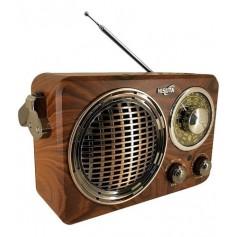 Radio Vintage Nisuta Portátil Bluetooth Vintage Retro Recargable Usb Am/Fm