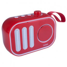 Parlante Noga Bluetooth Speaker Portatil Rojo Usb Auxiliar Bt-1002