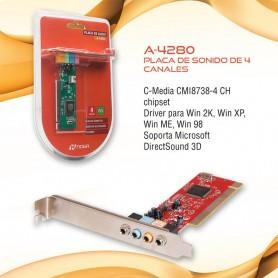 PLACA SONIDO PCI A-4280 4 CANALES NOGANET