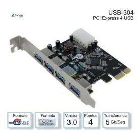 Placa Pci-Express A 4 Puertos Usb 3.0 Noga Usb-304