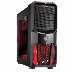 GABINETE PC KIT NOGA GAMER ROJO NG-CP626