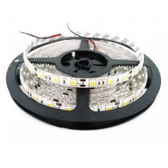 TIRA LED 5050 BLANCO FRIO 5MT 60 LED X MT 12V/24V exterior