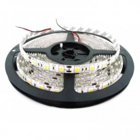 TIRA LED 5050 BLANCO CALIDO 5MT 60 LED X MT 12V/24V exterior