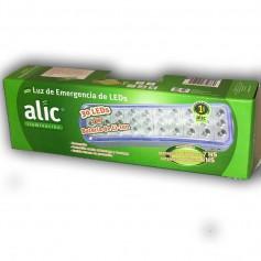 LUZ DE EMERGENCIA ALIC 30 LED AUTONOMIA 4HS MAX 7HR MEDIO