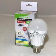 LAMPARA LED AUTONOMA LUZ DE EMERGENCIA 7W E27 3 HORAS LUZ CALIDA