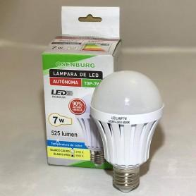 Lampara Led Autonoma Luz De Emergencia 7W E27 3 Horas Luz Fria