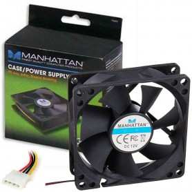 COOLER TURBINA 80MM MANHATTAN MODEL 700320 MOLEX 4 PINES RODAMIENTOS