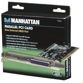 PLACA PCI CON PUERTO PARALELO DB25 MANHATTAN 158220