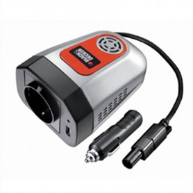 INVERSOR PORTATIL 12V 220V BLACK AND DECKER 100W CON PUERTO USB Y ADAPTADOR DE AVION