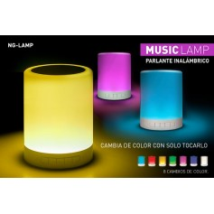Parlante Multimedia Noga Lamp Bluetooth Microsd Led Tactil 7 Colores