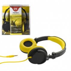 AURICULAR FULL BASS ONE FOR ALL SV-5612 VINCHA AMARILLO