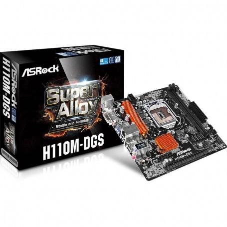 MOTHER ASROCK H110M-DGS Intel SOCKET 1151 Ddr4 DVI USB 3.0 SIN VGA