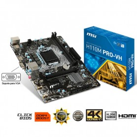 MOTHER MSI H110M PRO-HV LGA 1151 DDR4 USB 3.0 HDMI