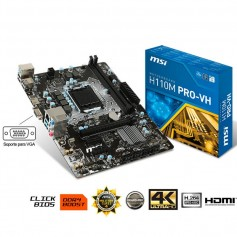 MOTHER MSI H110M PRO-HV LGA 1151 DDR4 USB 3.0 HDMI