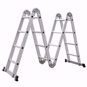 Escalera Aluminio Multiproposito Kmp404 4X4 Max 150Kg Sixelectric