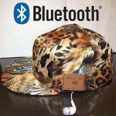 GORRA VICERA BLUETOOTH MANOS LIBRES ANIMAL PRINT