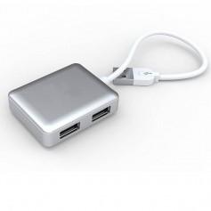 HUB 4 PUERTOS USB 2.0 MACBOOK STYLE MINI SIYOTEAM SY-H20