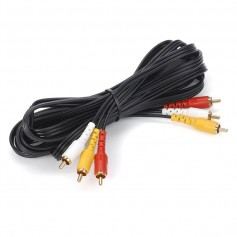 CABLE RCA AUDIO Y VIDEO 1.5MTS ROJO BLANCO AMARILLO