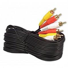Cable Rca Audio Y Video 10Mts Rojo Blanco Amarillo