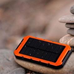 CARGADOR SOLAR PORTATIL 5000 MAH POWER BANK CELULAR DOBLE USB LINTERNA SM-J1604