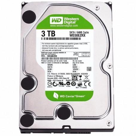 DISCO RIGIDO 3TB WD GREEN WESTERN DIGITAL HDD 7200RPM SATA III 3.5