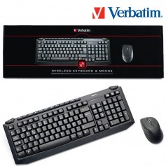 TECLADO Y MOUSE WIRELESS VERBATIM 98112