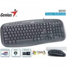 TECLADO GENIUS KB-M200 USB MULTIMEDIA