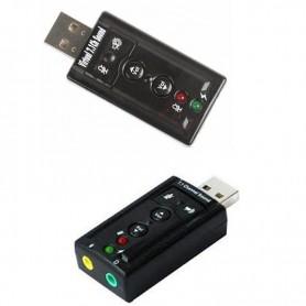 PLACA DE SONIDO USB 2.0 EXTERNA AUDIO 7.1 SURROUND 3D MANHATTAN