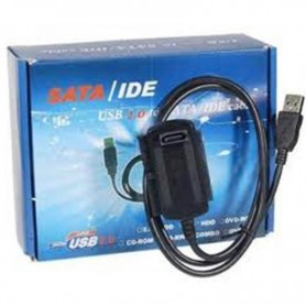 ADAPTADOR USB A SATAE IDE DE DISCOS PC Y NOTEBOOK GRABADORA CD DVD