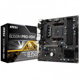 MOTHER MSI B350M PRO-VDH SOCKET AM4 DDR4 HDMI DVI VGA