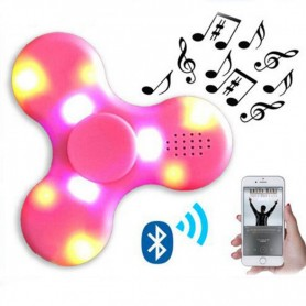FIDGET SPINNER HAND LUZ LED PARLANTE BLUETOOTH BATERIA RECARGABLE USB
