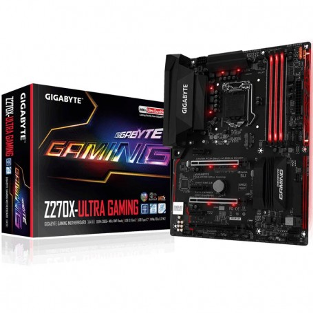 MOTHER GIGABYTE Z270X-ULTRA GAMING RGB FUSION INTEL SOCKET 1151 USB 3.1 DDR4 HDMI USB TYPE C LED RGB