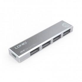 MINI HUB USB 4 PUERTOS LDNIO DL-H1 EXELENTE CALIDAD ALUMINIO