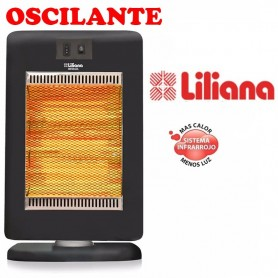 ESTUFA CALEFACTOR LILIANA OSCILANTE CIG100 INFRASOL 1400 WATTS
