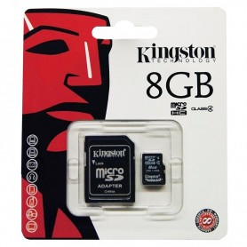MEMORIA MICRO SD 8GB KINGSTON 1 ADAPTADOR