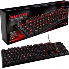 TECLADO GAMING KINGSTON HYPER X ALLOY FPS MECANICO SWITCH MXBLUE RETROILUMINADO ROJO